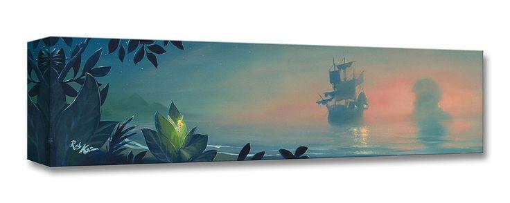 Peter Pan - Neverland Lagoon - Tinkerbell - Gallery Wrapped - Rob Kaz - World-Wide-Art.com - #disneyfineart #robkaz #disneytreasuresoncanvas #gallerywrapped #peterpan