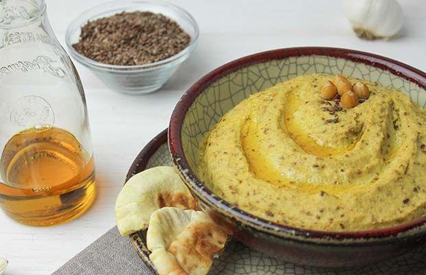 Hummus with Flax