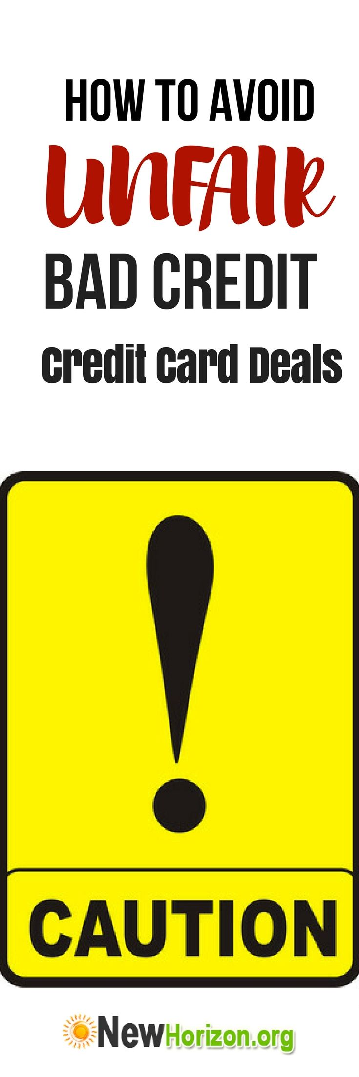 How to Avoid Unfair Bad Credit Credit Card Deals Bad