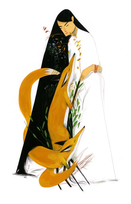 """Kumiho - Illustrations by Jon Lau: """"Kin""""  Ongoing series centering around the Korean mythological creature, the kumiho, as part of a collaborative book project with illustrator Junyi Wu."""