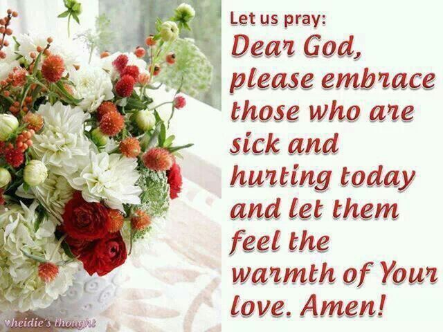 Ϯ ❤ Ϯ                                                                                                    Spiritual Thought                                              Prayer for the sick