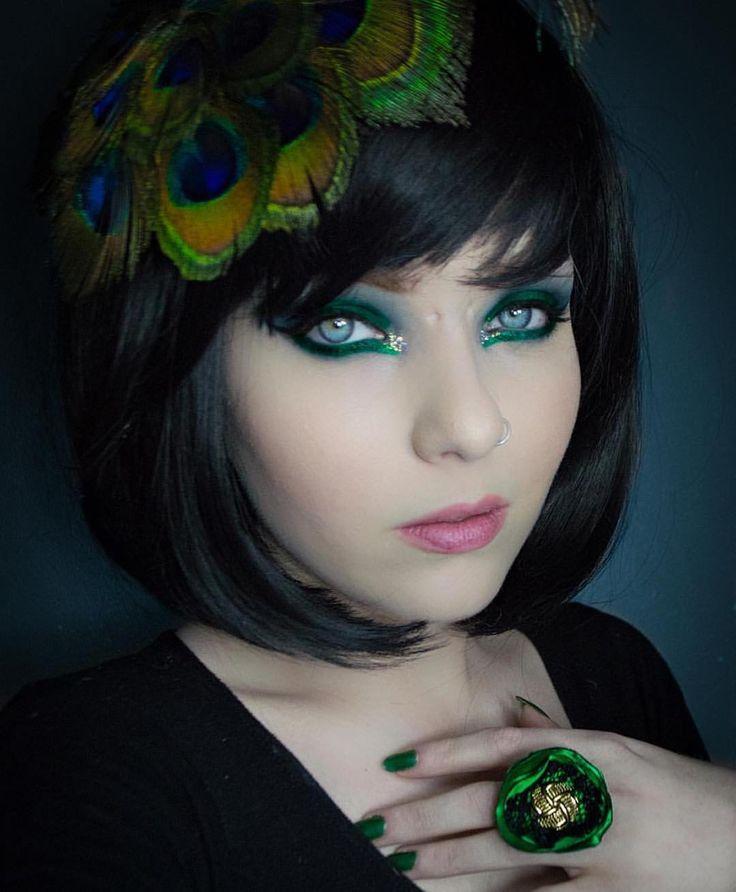 The beautiful @mothqueenmakeup wearing Lush Wigs - Betty  #lushwigsbetty #wig #lushwigs #blackbobwig