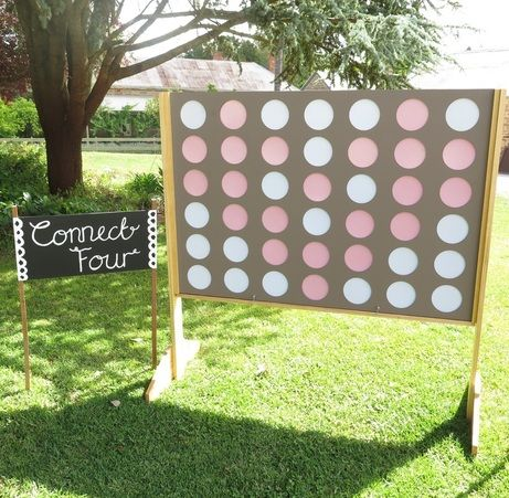 44 best wedding decorations reception images on pinterest giant connect four with sign to hire for weddings and events in adelaide and the barossa south australia junglespirit Images