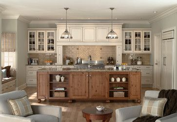 Sullivan Kitchen - traditional - kitchen - other metro - by Mid Continent Cabinetry Like the color combination for the kitchen (cabinet color/island/wall color)