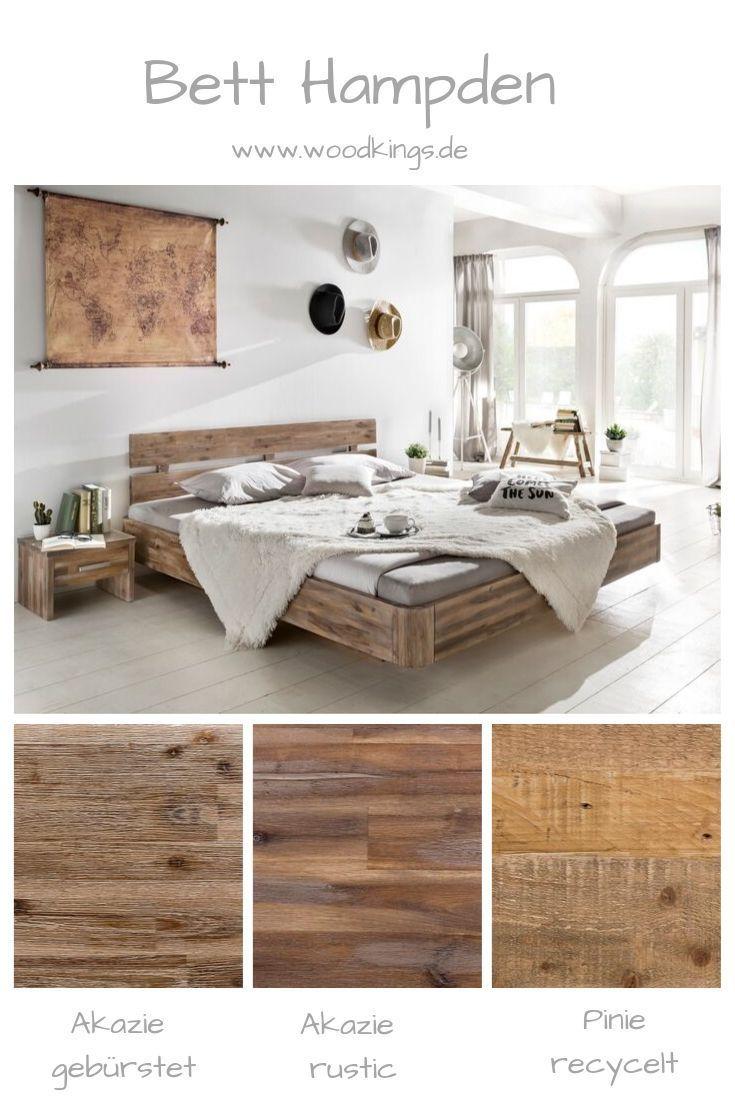 Woodkings Holzbett Hampden Betten Kaufen Bett Schwebend Balken