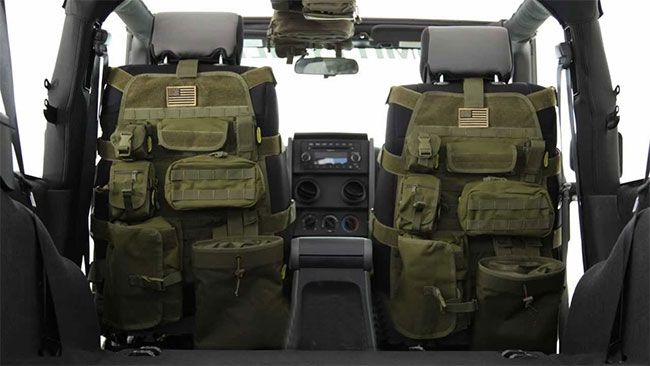 Maximize your cars limited storage space with the tactical car seat cover. Apart providing your car with some chic urban-styled decorum, it protects your cars...