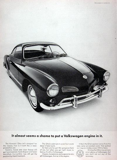 Fcd Dc A E C Cab F C Volkswagen Karmann Ghia Vintage Ads