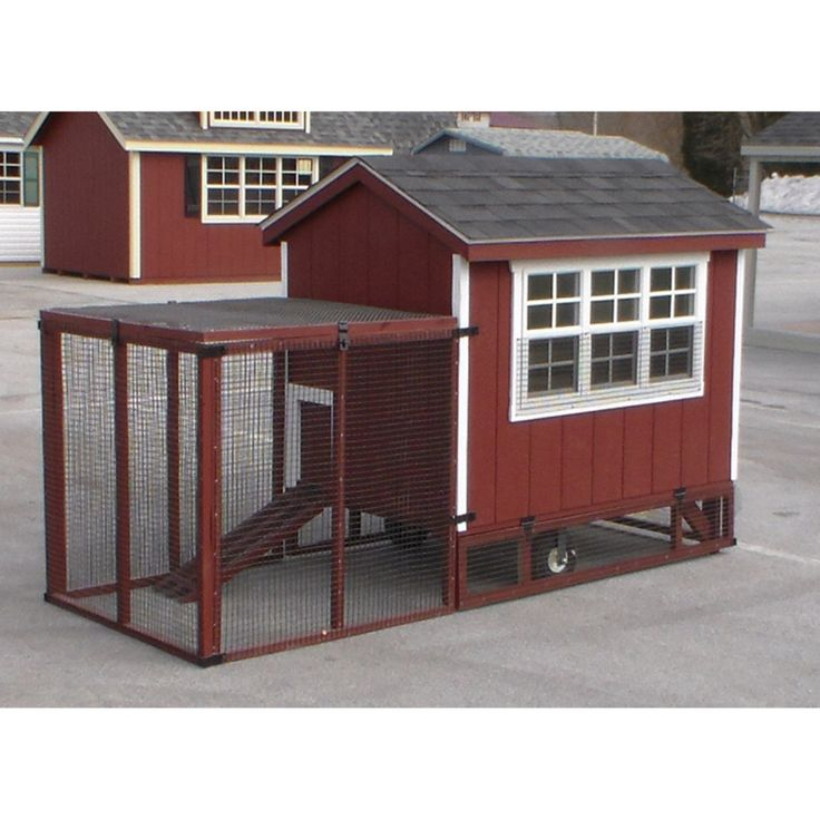 A & L Furniture Henny Penny Super Coop with Yard Kit - 9350-UNFINISHED