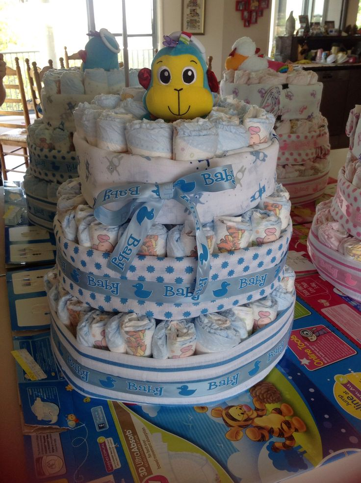Nappy cake for baby boy
