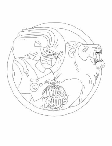 wild kratts lion coloring page color in pinterest wild kratts and birthdays