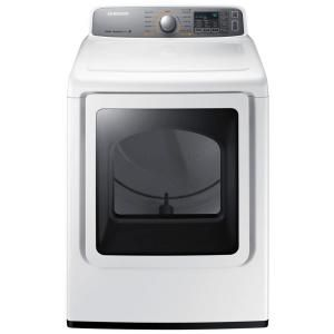 Samsung, 7.4 cu. ft. Electric Dryer with Steam in White, DV48H7400EW at The Home Depot - Tablet