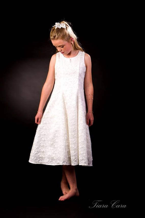 ❣§ #Flower Girl / First #Holy Communion dress in delicate white #lace by Tia... Best http://etsy.me/2v9n5FH