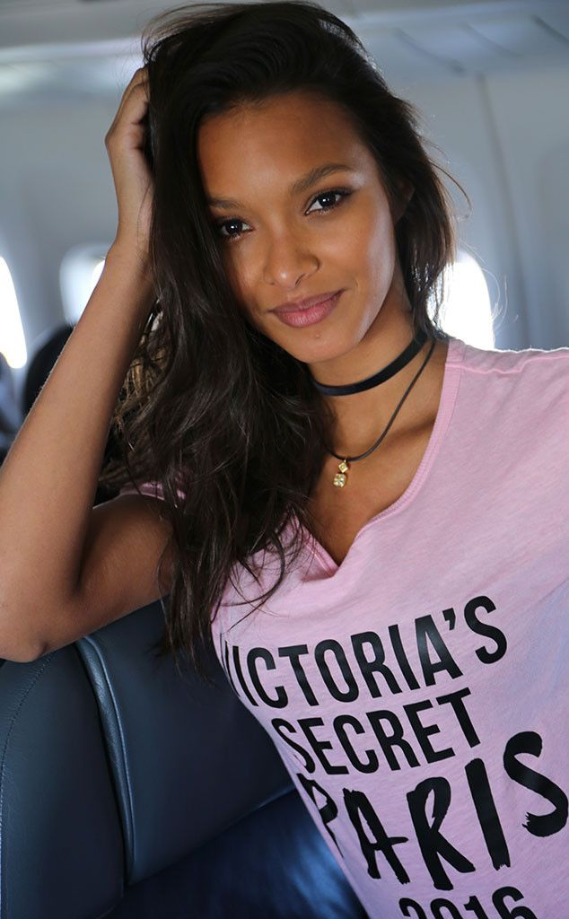 Lais Ribeiro on the Angels Flight to Paris for the 2016 Victoria's Secret Fashion Show