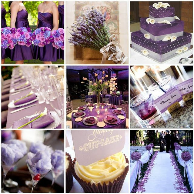 Purple and Turquoise Wedding Theme | Purple Silver Wedding Themes Pictures