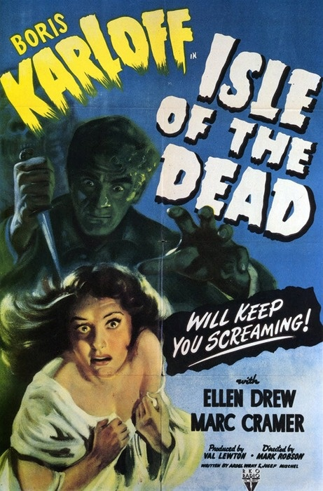 Isle Of The Dead.1945 boris #karloff #horror....ONE OF MY FAVORITE MOVIES AT THE TIME.