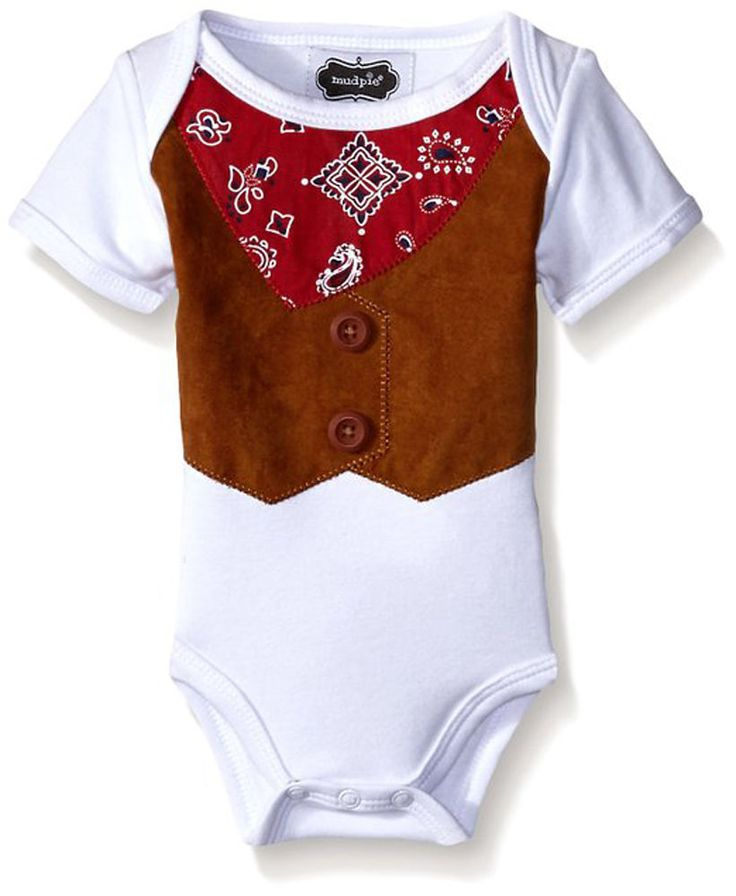 Mud Pie Newborn Infant Baby Boys' Cowboy Crawler 0-3 Months BABY SHOWER GIFT #MudPie #DressyEverydayHoliday