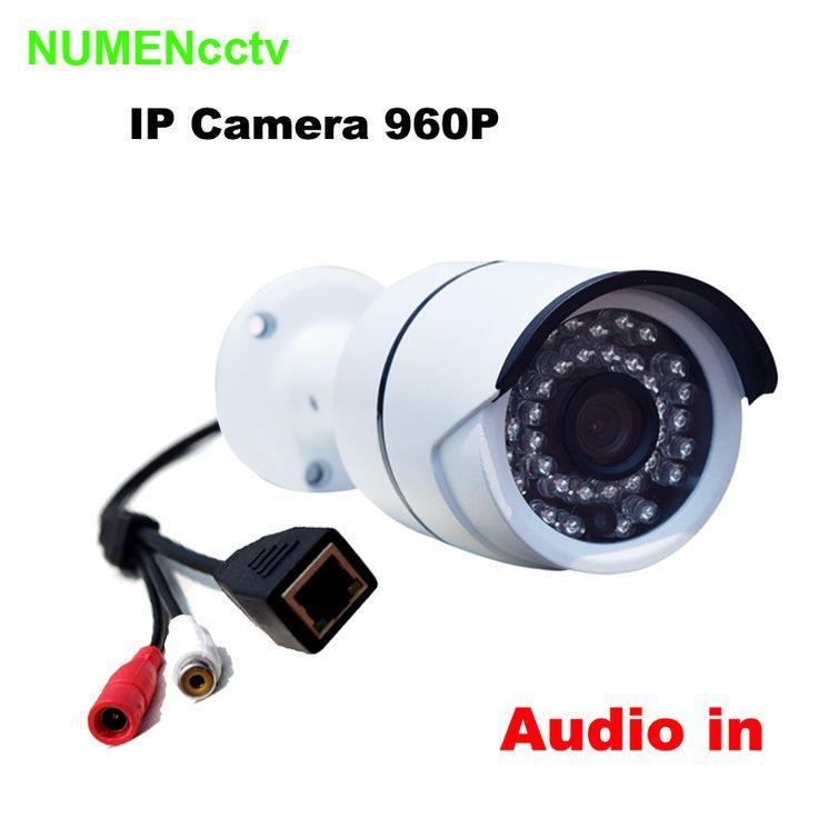 Горячая 1,3-мегапиксельной камерой аудио вход 960 P IP камера Onvif открытый безопасность водонепроницаемый ночного видения видеонаблюдения ip-безопасности система видеонаблюдения