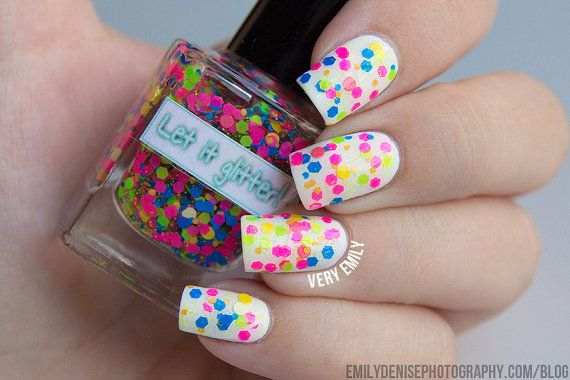 Glitter nail polish - Neon Matteness by Let it glitter! available on Etsy!