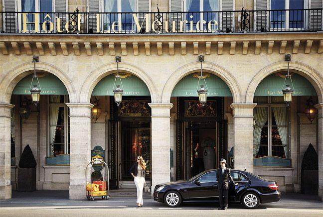 Hôtel Le Meurice, le doyen des palaces parisiens.