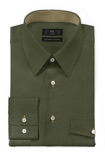 Green 100% cotton Shirt: http://www.tailor4less.com/en-us/men/shirts/3121-green-100-cotton-shirt
