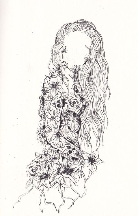 Art drawing amazing dope flowers girl hair for Amazing drawings of roses
