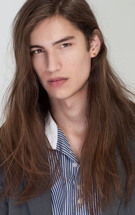 Peachy 104 Best Images About Male Models Long Hair On Pinterest Hairstyles For Men Maxibearus