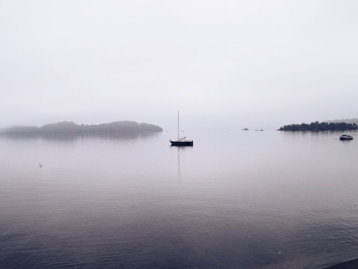 foggy morning on loch lomond
