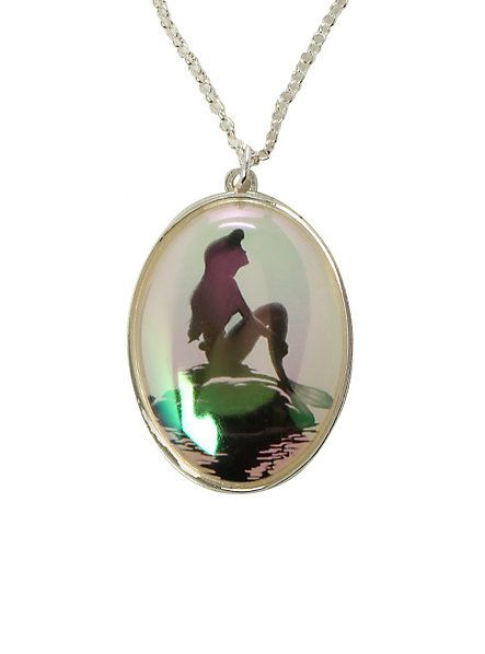 Disney The Little Mermaid Iridescent Silhouette Necklace | Hot Topic