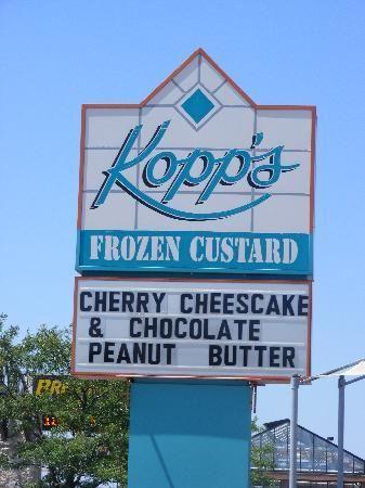 Kopp's custard - THE BEST!!! Milwaukee, Wisconsin