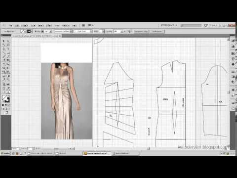 Model uygulamalı elbise kalıbı 24 /The model applied dress pattern 24 - YouTube
