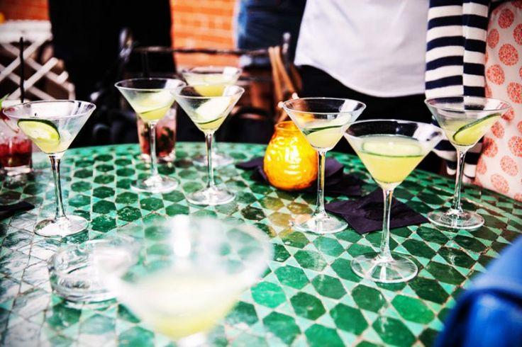 Cool cucumber martinis