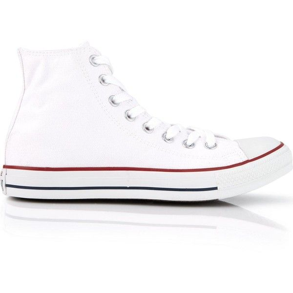 Converse Chuck Taylor All Star High Rise Trainers ($65) ❤ liked on Polyvore featuring white