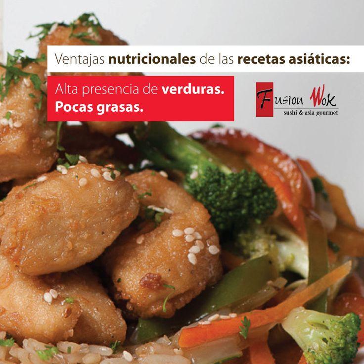 ¡Ven y disfruta en Fusion Wok de la mejor comida asiática Gourmet! Platos exquisitos y totalmente saludables. Los esperamos en todas nuestras sedes de Cali (Ciudad Jardín-Granada) y Bogotá Hayuelos Centro Comercial