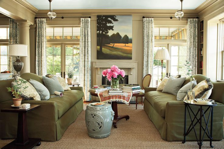 Create a Faux Fireplace - 108 Living Room Decorating Ideas - Southernliving. Give your living room a focal point by creating a faux fireplace with an antique mantel. This fireplace was set on a rectangular piece of slate as the hearth. .See this Georgia Row House