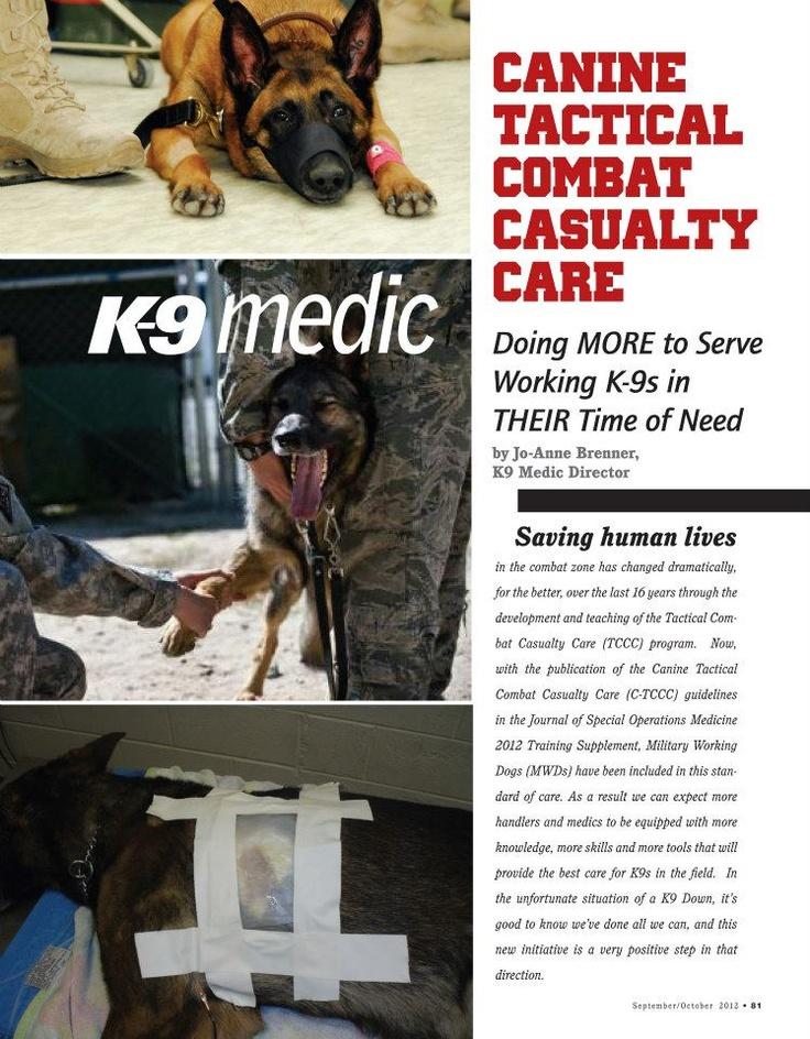 K-9 Medic: Canine Tactical Combat Casualty Care  www.k9copmagazine.com