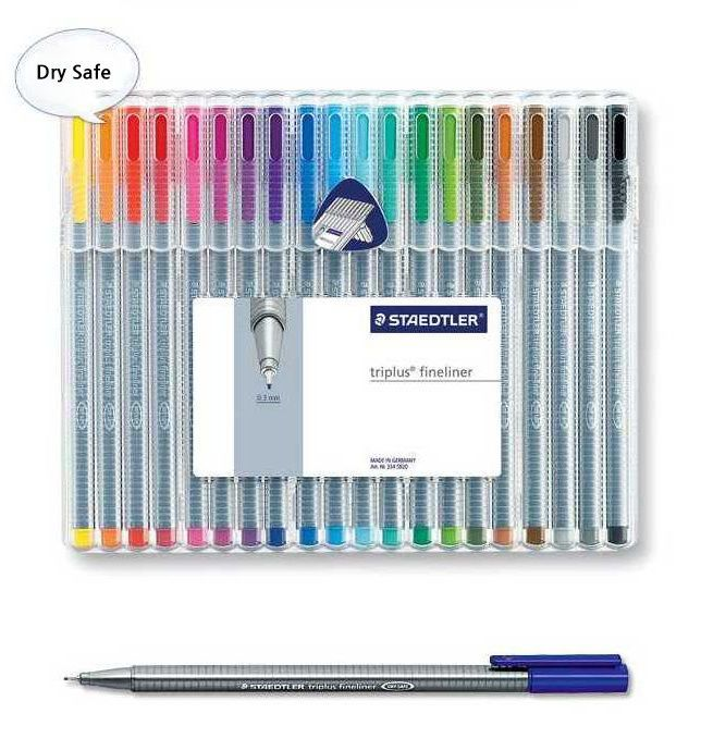 Staedtler Triplus Fineliner 334 SB20 Color Ink Pen 0.3mm Artist Office #Staedtler