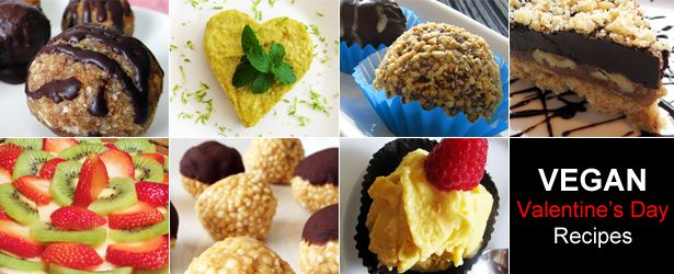 Vegan Valentine's Day Recipes, including many healthy and gluten-free options!