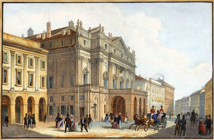Le théâtre de la Scala à Milan. Milano Scala 19c  — Wikipédia