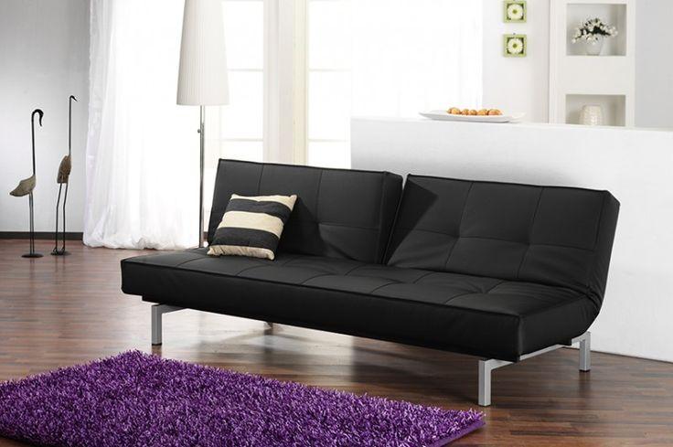 #Schlafsofa Schlaf #Sofa #Couch #Leder Napalon #schwarz