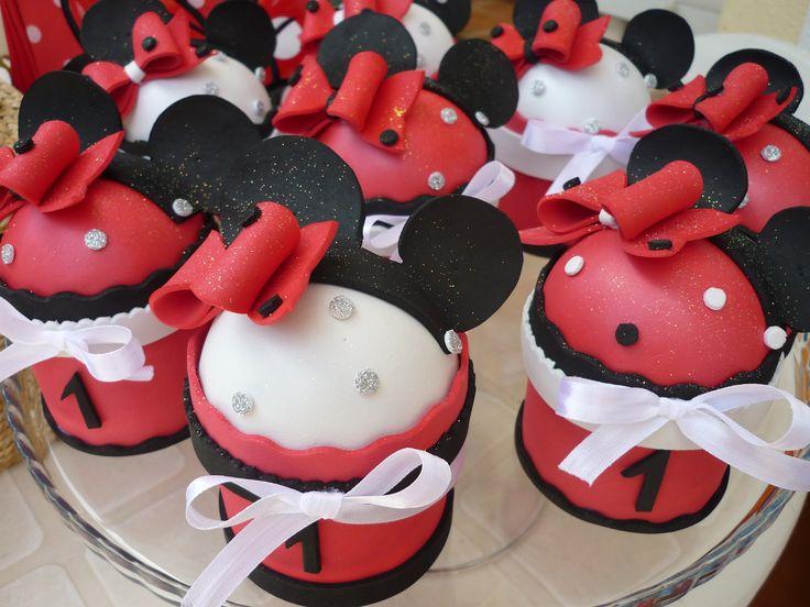 Brindes Cupcakes da Minnie