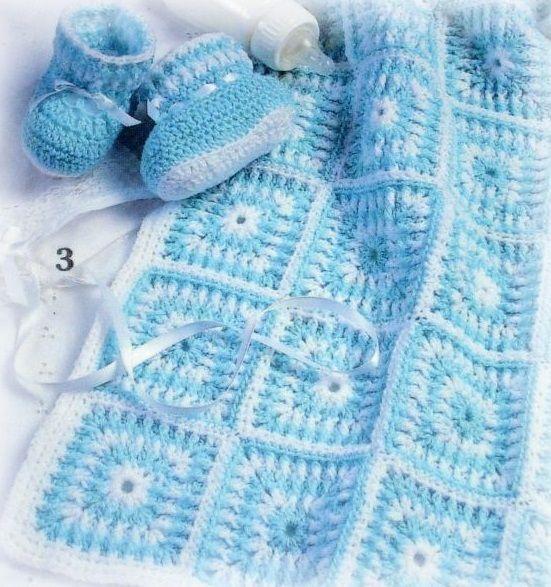 Yeni örgü tığ işi bebek battaniye modeli