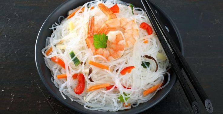 Salade vietnamienne et crevette à l'ail - Recettes - Ma Fourchette