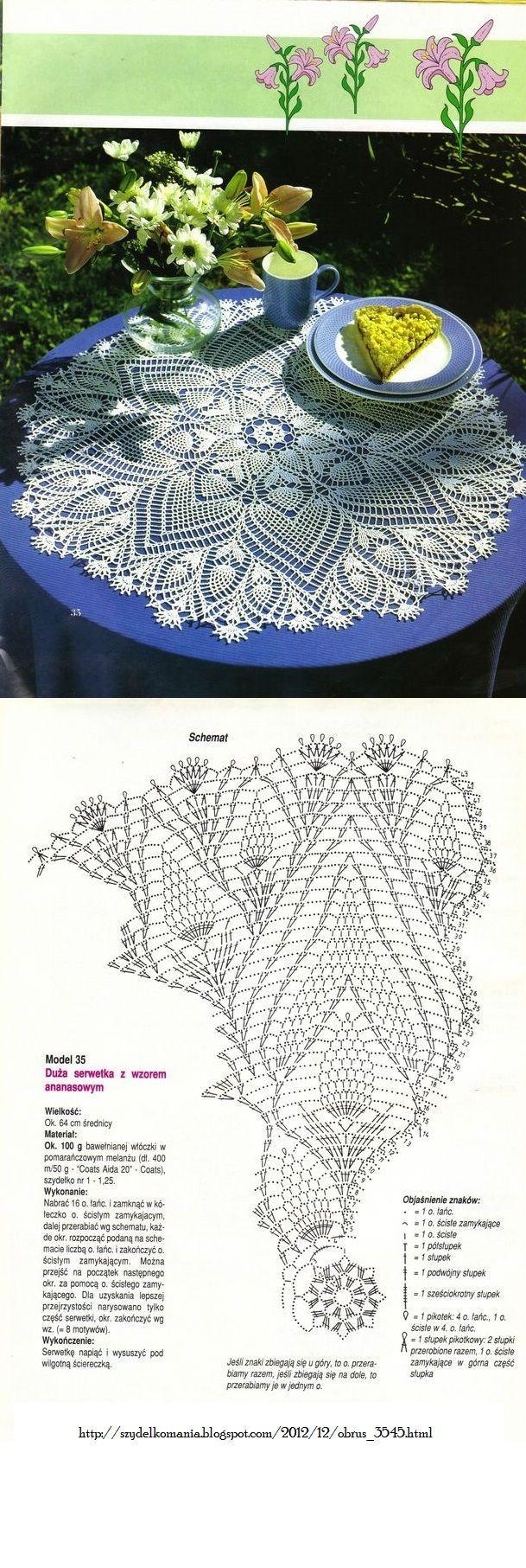 #_SUE Crochet Doily with diagram.                                                                                                                                                                                                                                                                                           15 repins                                                                                                             2 likes