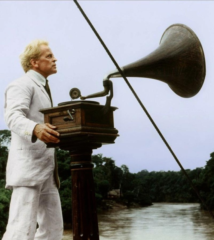 Fitzcarraldo - German - (1982) Klaus Kinski, Claudia Cardinale, José Lewgoy Director: Werner Herzog  - Brian Sweeney Fitzgerald is a slightly mad man bent on building an opera house in the middle of a jungle filled with headhunters