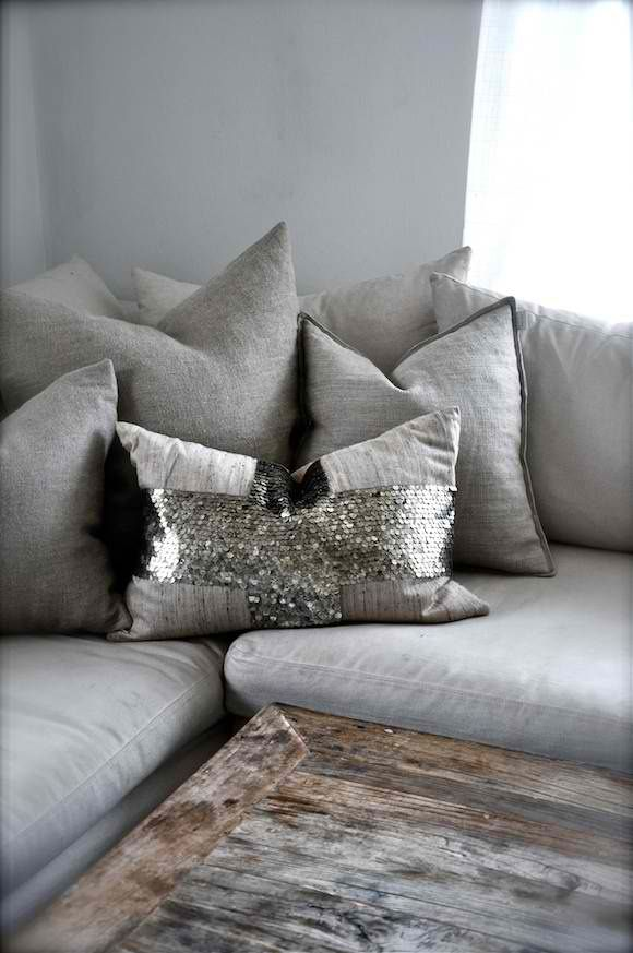 don't love the glam pillow, but like the colors and texture