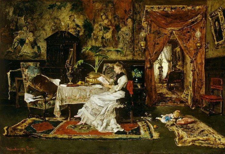 A study for Paradise lost      Paris interior, 1877       Mihály Munkácsy   born February 20, 1844 in Munkács, Kingdom of Hungary (now Ukr...