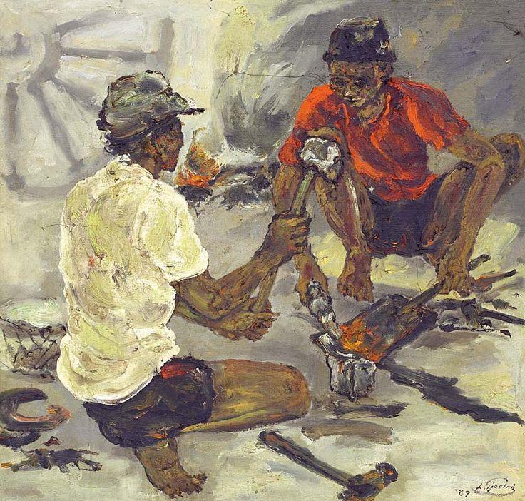 Liem Tjoe Ing (Surakarta, 1922-1996) - Pandai Besi, 1989.