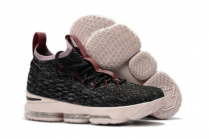 best sneakers ac05c 79506 2018 New Style Nike LeBron 15 Mens Original Basketball Shoes Sneakers Coal  Black Grey Wine Pink  adidasbasketballshoes