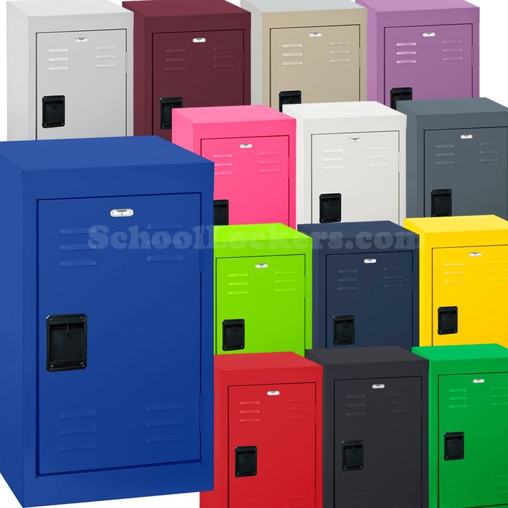 Sandusky Mini Lockers for Kids for sale! 17 colors to choose from. Bright, durable and perfect for storing school supplies, books, electronics and more! #kidslockers