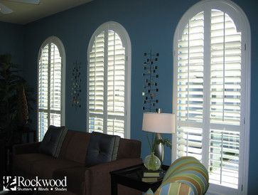Plantation Shutters - Arch Window Shutters - contemporary - Other - Houston - Rockwood Shutters, Blinds and Shades